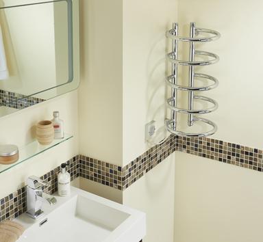 Corner towel rail cptc chrome 100w